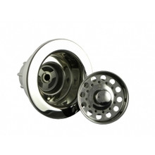 Opella 90066.045 Basket Strainer & Flange Drain Assembly  - Polished Stainless Steel