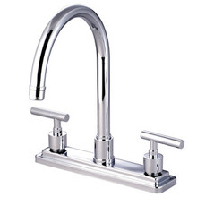 Kingston Brass Two Handle Widespread Kitchen Faucet - Polished Chrome KS8791CMLLS