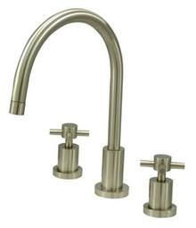 Kingston Brass Two Handle Widespread Kitchen Faucet - Satin Nickel KS8728DXLS