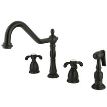 Kingston Brass Two Handle Widespread Kitchen Faucet - Oil Rubbed Bronze KB1795TXBS