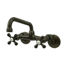 Kingston Brass Two Handle Wall Mount Kitchen Faucet - Oil Rubbed Bronze