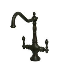 Kingston Brass Two Handle Single Hole Kitchen Faucet - Oil Rubbed Bronze KS1775ALLS