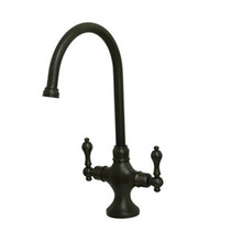 Kingston Brass Two Handle Single Hole Kitchen Faucet - Oil Rubbed Bronze