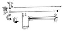 Mountain Plumbing MT8000-NL-SC Lav Supply Kits W/Decorative Trap - Satin Chrome