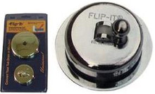 Flip-It 90-325 PVD Tub Drain Stopper/Overflow Plate Conversion Kit - Brushed Nickel