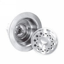 Opella 90088.045 Disposer Basket Strainer & Flange Drain Assembly - Polished Stainless