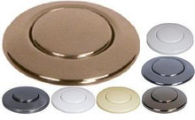 Waste King AS-4201 Air Switch Remote Controller Button - Chrome - Brass - Bisquit - Satin Nickel - Almond - White