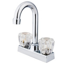 "Kingston Brass Two Handle 4"" Centerset Bar Faucet - Polished Chrome KB461"