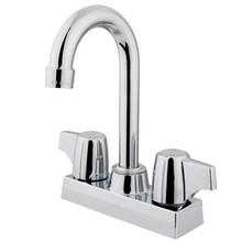 "Kingston Brass Two Handle 4"" Centerset Bar Faucet - Polished Chrome KB460"