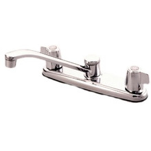 Kingston Brass Two Canopy Handle Widespread Kitchen Faucet - Polished Chrome
