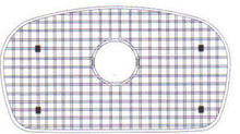 "Houzer WireCraft BG-3950 29 1/2"" x 15 1/2"" Bottom Grid for Sink - Stainless Steel"