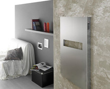 "Amba Elory Mars E 2130 B 21"" W x 30"" H x 3"" D European Towel Warmer & Space Heater - Brushed Stainless"