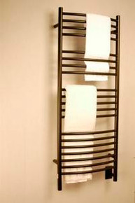 """Amba Jeeves DCO-20 Model D 20-1/2"""" W x 52-3/4"""" H Curved Electric Heated Towel Warmer - Oil Rubbed Bronze"""
