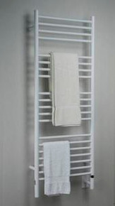 """Amba Jeeves DSW-20 Model D 20-1/2"""" W x 52-3/4"""" H Straight Electric Heated Towel Warmer - White"""