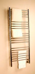 "Amba Jeeves DSB-20 Model D 20-1/2"" W x 52-3/4"" H Straight Electric Heated Towel Warmer - Brushed Stainless"