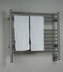 """Amba Jeeves KSB-30 Model K 29-1/2"""" W x 27"""" H Straight Electric Heated Towel Warmer - Brushed Stainless"""