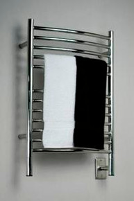 """Amba Jeeves ECP-20 Model E 20-1/2"""" W x 31"""" H  Curved Electric Heated Towel Warmer - Polished Stainless"""