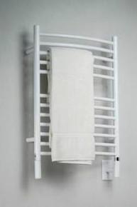 "Amba Jeeves ECW-20 Model E 20-1/2"" W x 31"" H  Curved Electric Heated Towel Warmer - White"
