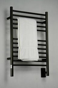 """Amba Jeeves ESO-20 Model E 20-1/2"""" W x 31"""" H  Straight Electric Heated Towel Warmer - Oil Rubbed Bronze"""
