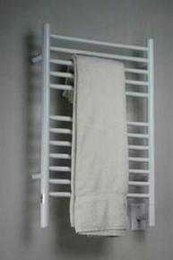 "Amba Jeeves ESW-20 Model E 20-1/2"" W x 31"" H  Straight Electric Heated Towel Warmer - White"
