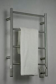 """Amba Jeeves ISB-20 Model I 20-1/2"""" W x 31"""" H  Straight Electric Heated Towel Warmer - Brushed Stainless"""
