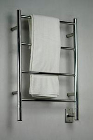 """Amba Jeeves ISP-20 Model I 20-1/2"""" W x 31"""" H  Straight Electric Heated Towel Warmer -Polished Stainless"""