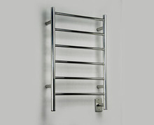"""Amba Jeeves JSB-20 Model J 20-1/2"""" W x 31"""" H Straight Electric Heated Towel Warmer - Brushed Stainless"""