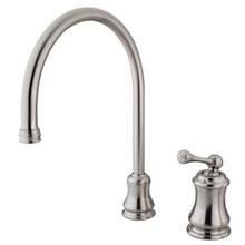 Kingston Brass Single Handle Widespread Kitchen Faucet - Satin Nickel KS3818BLLS