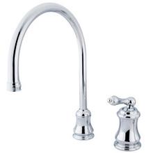 Kingston Brass Single Handle Widespread Kitchen Faucet - Polished Chrome KS3811ALLS