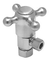 Mountain Plumbing MT4003X-NL/SB Cross Handle Angle Valve -  Satin Brass