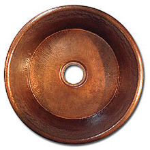 "LinkaSink C017 WC 3 1/2"" Drain Small Flat Bottom 16"" X  7"" Lav Copper Sink - Weathered Copper"