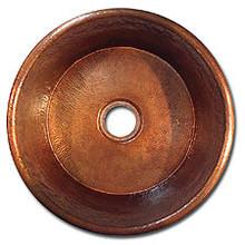 """LinkaSink C017 DB 3 1/2"""" Drain Small Flat Bottom 16"""" X  7"""" Lav Copper Sink - Dark Bronze"""