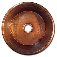 "Linkasink C016 PN 2"" Drain Small Flat Bottom 16"" X  7"" Lav Copper sink - Polished Nickel"