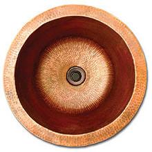 """Linkasink C002 PN 16"""" x 8"""" Large Copper Lav sink - Polished Nickel"""