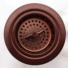 "Linkasink D003 DB 3 1/4"" Spin and Turn Basket Strainer - Dark Bronze"