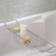Valsan Essentials 53414NI Large Adjustable Bathtub Caddy - Rack - Polished Nickel