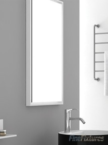 """Fine Fixtures MR18WH 18"""" x 33 1/2"""" Wall Mirror with White Matte Frame"""