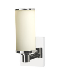 Valsan 30966ES Braga Bathroom Single Wall Light - Satin Nickel