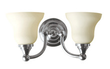 Valsan 30969ES Kingston Bathroom Double Wall Light - Satin Nickel