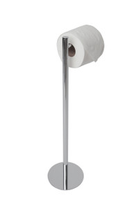 Valsan 53506ES Essentials Contempoary Free Standing Toilet Tissue Paper Holder - Satin Nickel