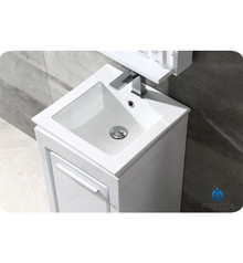 """Fresca FVN8118WH Allier Bathroom Vanity with Sink & Faucet & Mirror 15.75"""" W - White"""