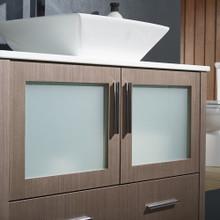 "Fresca FVN6236GO-VSL Torino Espresso Bathroom Vanity with Vessel Sink & Faucet 35.75"" W - Gray Oak"