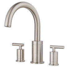 Price Pfister RT6-5NCK Contempra Deck Mounted Roman Tub Faucet Trim with Metal Lever Handles - Brushed Nickel