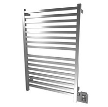 """Amba Quadro Q-2842-P 28"""" W x 42"""" H Towel Warmer and Space Heater - Polished Stainless"""