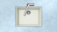 "Houzer G-100U CLOUD 23.63""W x 18.31""L x 8.69""D Quartztone Undermount Composite Granite Single Bowl Kitchen Sink - Cloud"