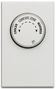 Luxpro LV21 Non-Programmable Double Pole Line Voltage Heating Only Mechanical Thermostat