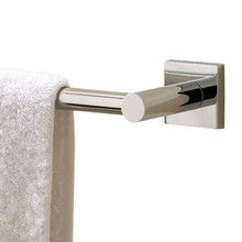 """Valsan Braga Square Base Towel Rail / Bar 19 11/16"""" - Polished Nickel"""