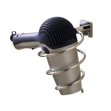 Valsan Braga Wall Mounted Hairdryer Holder - Polished Nickel