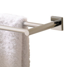 "Valsan Braga Square Base  20"" Double Towel Bar  - Polished Nickel"