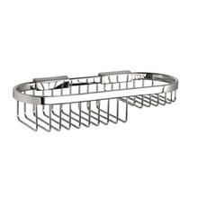 "Valsan Classic Detachable Oval Basket Soap Small 3 1/2"" X 11"" - Chrome"